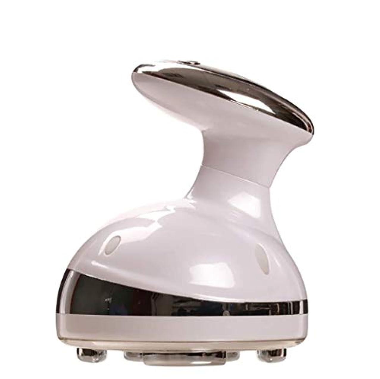 マッサージャー、多機能ボディ振動マッサージャー、ハンドヘルド減量マッサージャー、ホームオフィススポーツスマートLCDディスプレイ、ユニセックス (Color : 白)