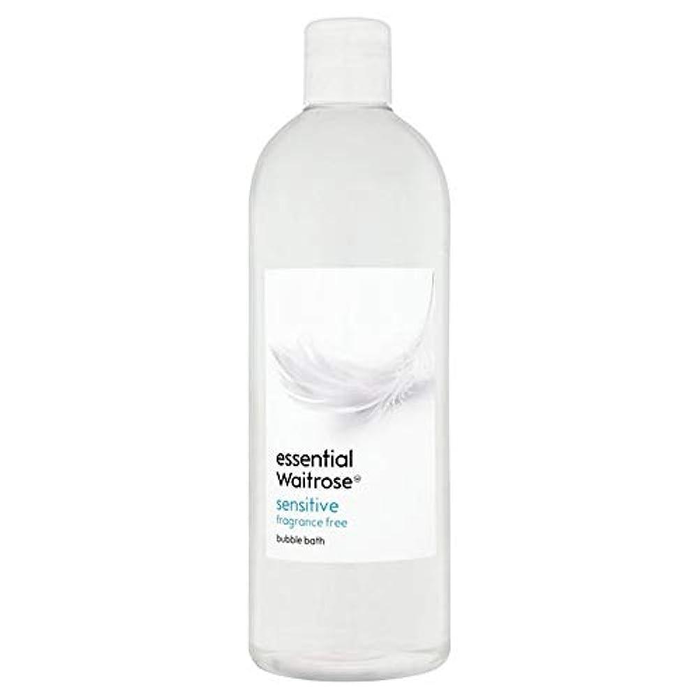 木材ジャズ無限大[Waitrose ] 基本的なウェイトローズ泡風呂に敏感な750ミリリットル - Essential Waitrose Bubble Bath Sensitive 750ml [並行輸入品]
