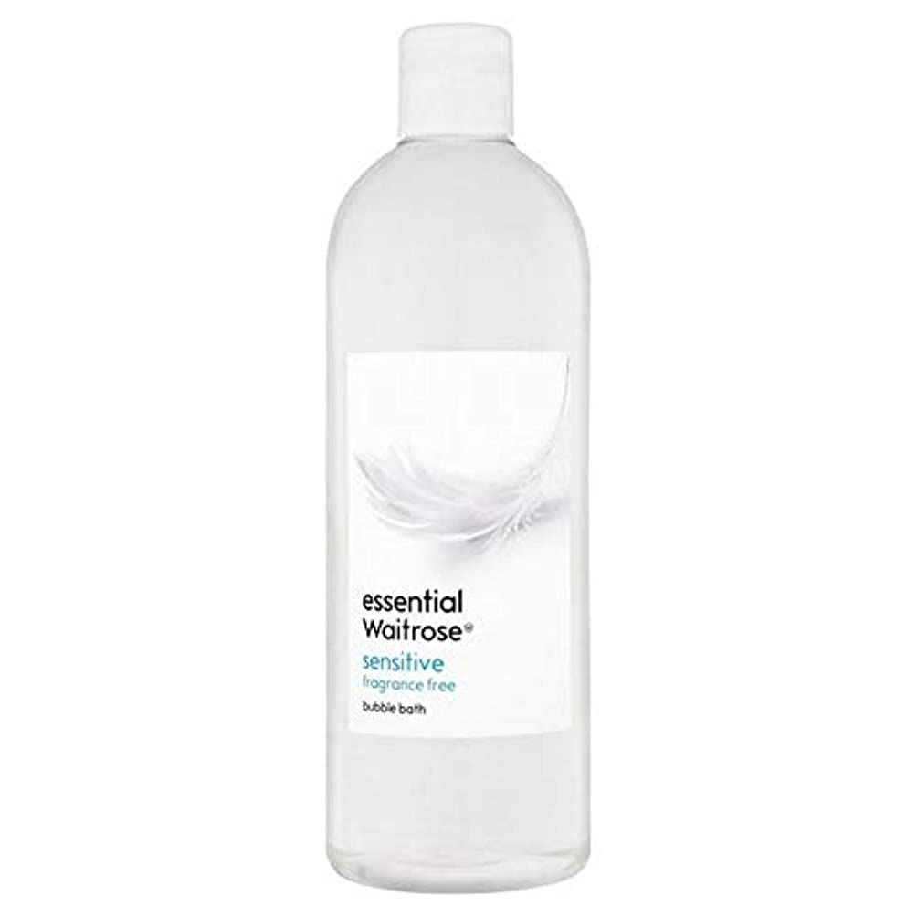接地アート認可[Waitrose ] 基本的なウェイトローズ泡風呂に敏感な750ミリリットル - Essential Waitrose Bubble Bath Sensitive 750ml [並行輸入品]