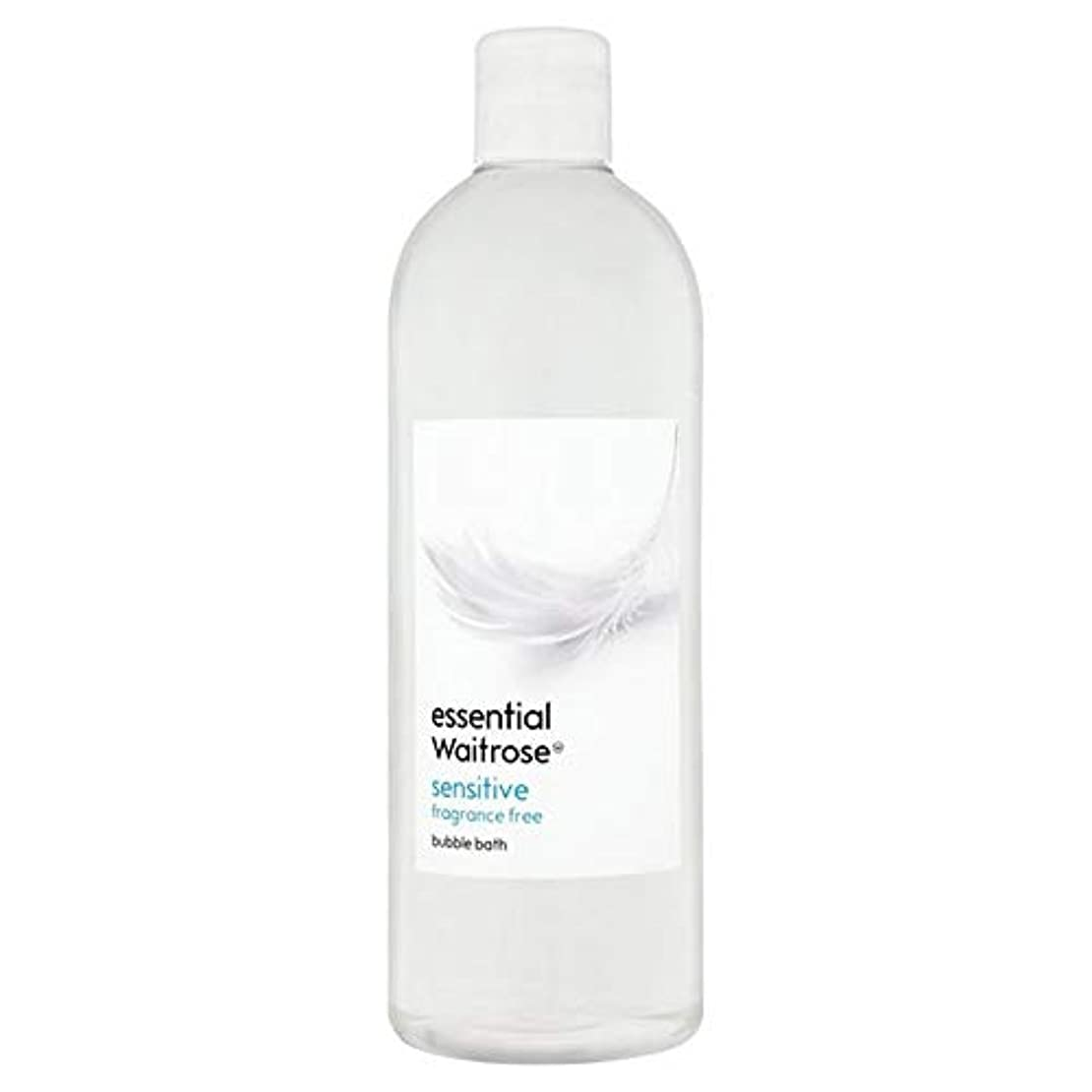 ひどいまっすぐ奨励します[Waitrose ] 基本的なウェイトローズ泡風呂に敏感な750ミリリットル - Essential Waitrose Bubble Bath Sensitive 750ml [並行輸入品]