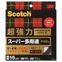 3M スコッチ 超強力両面テープ プレミアゴールド (スーパー多用途) 15mm×10m 1巻