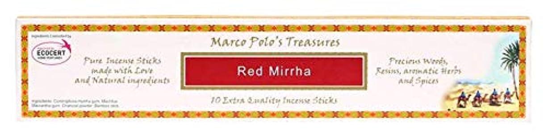 適度に性別まだらレッドMirrha – Ecocert – Marco Polo Incense 10 Sticks – Natural Incense会社