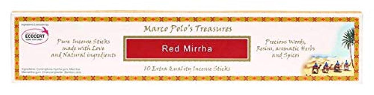 不規則な世界的に敬レッドMirrha – Ecocert – Marco Polo Incense 10 Sticks – Natural Incense会社