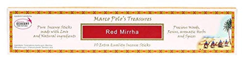 穏やかなカート墓レッドMirrha – Ecocert – Marco Polo Incense 10 Sticks – Natural Incense会社