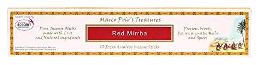 キャップピアース最大のレッドMirrha – Ecocert – Marco Polo Incense 10 Sticks – Natural Incense会社