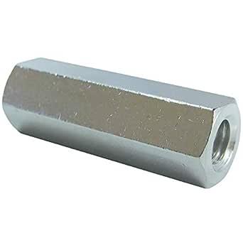 ダイドーハント (DAIDOHANT) (ナット) 真鍮 高ナット (長ナット) (呼び径) M3 x (高さB) 15mm [ 真鍮/ニッケル] (4本入) 10184727