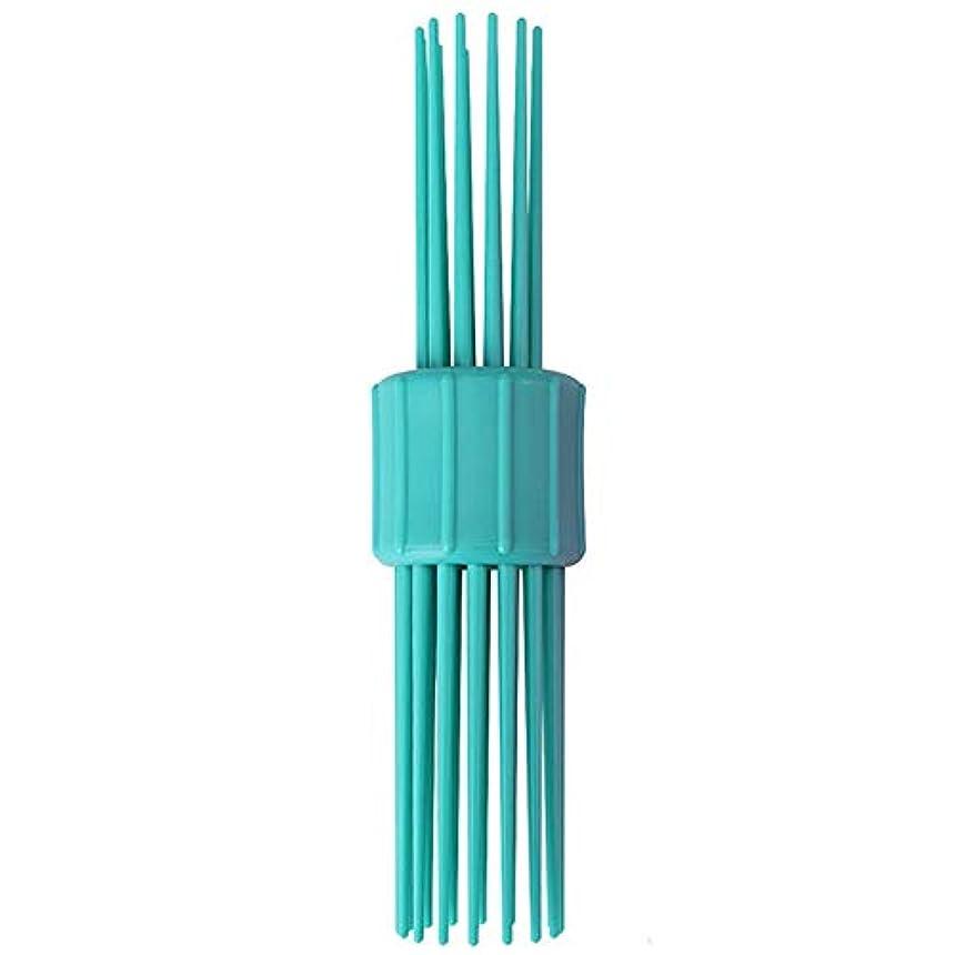 解放するポジションマーキングポータブルリールヘアスタイリングヘアスタイリング波マジックペン多彩な毛の櫛毛の1つのDIYアクセサリーメーカー長く、中、短い髪(青)ツール