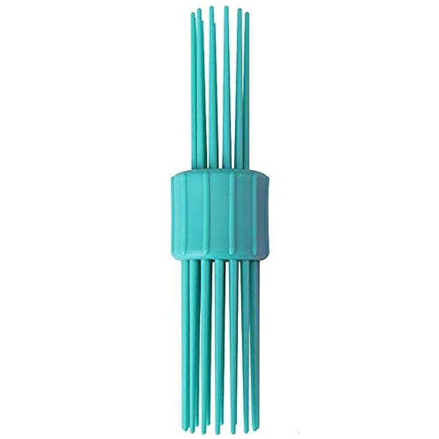 カーテン神経衰弱文ポータブルリールヘアスタイリングヘアスタイリング波マジックペン多彩な毛の櫛毛の1つのDIYアクセサリーメーカー長く、中、短い髪(青)ツール
