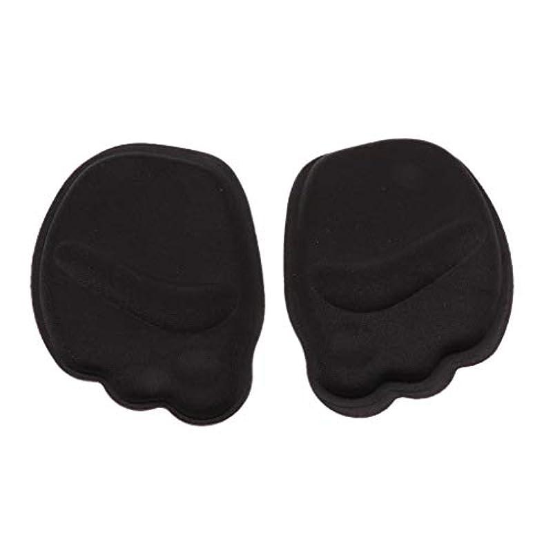 カバーヒント小間CUTICATE つま先 インソール 前足クッション 前足パッド スポンジ 快適 再利用可能で洗える 5ペア 全4色 - ブラック