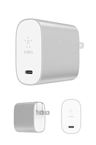 【Amazon.co.jp 限定】ベルキン USB充電器 iPhone/iPad/Androidスマホ各種対応 USB-C 27W 急速充電 BOOST CHARGE F7U060DQ-SLV-A シルバー