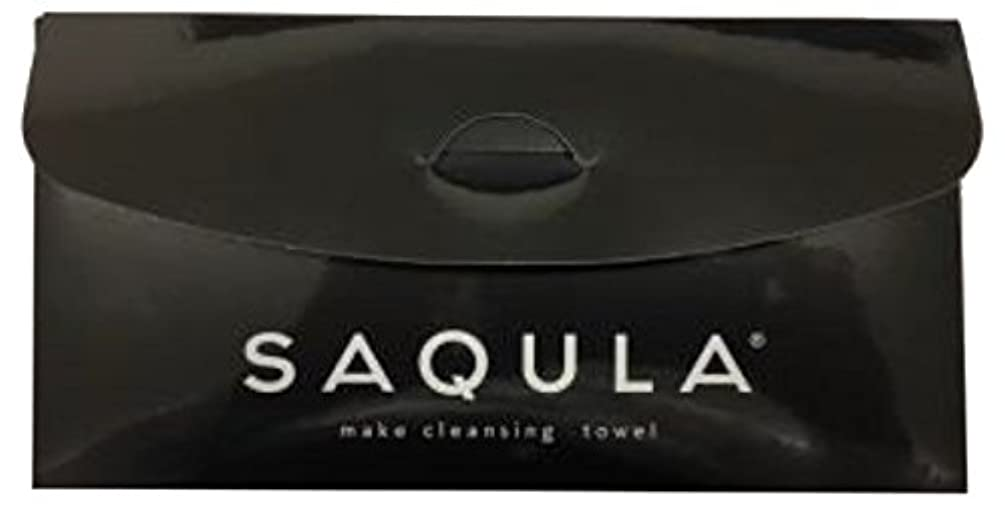 神社皮肉失望SAQULA クレンジングタオル ブラック テレビで紹介された 水に濡らして拭くだけで簡単にメイクが落とせるクレンジングタオル
