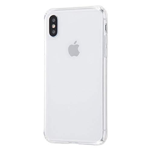 [ 耐衝撃 ] iPhone XS ケース ガラスケース [ 四つ角エアクッション構造 衝撃吸収 ][ 背面に強化アルミノシリケートガラスを使用した 超透明 クリア ハイブリッドケース ] DA-P20CC11/CM