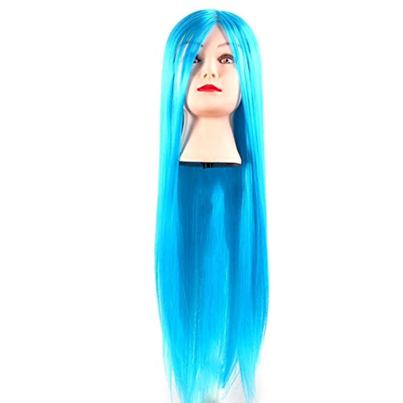 名前ウィンク吸収剤サロン散髪練習ヘッドモデルメイク学校編組髪開発学習モデルヘッドヘアストレートロングかつら