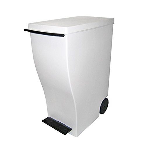 I'mD (アイムディ) ゴミ箱 キャスター付 Kcud クード スリムペダル ブラウン 33L KUD30BR