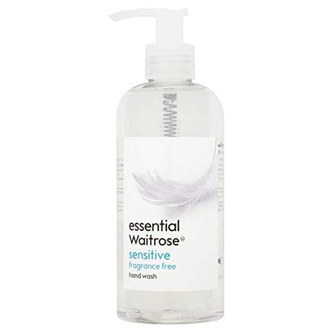 キャンプ不公平熟達[Waitrose ] 基本的なウェイトローズのハンドウォッシュ敏感な300ミリリットル - Essential Waitrose Hand Wash Sensitive 300ml [並行輸入品]