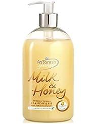 [Astonish ] 驚か抗細菌ミルク&ハニーハンドウォッシュ(500ミリリットル) - Astonish Anti Bacterial Milk & Honey Hand Wash (500ml) [並行輸入品]