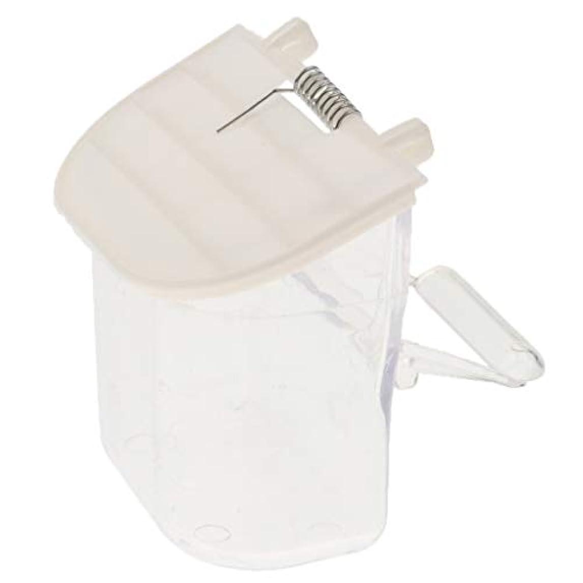 ビババルコニー彼らのものCUTICATE ケージ用スプリットバードシードフィーダーなし、オウム自動採餌食品容器