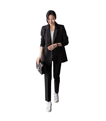 [해외]BAJIAN 여성 정장 상하 세트 OL 느긋한 ァ숀 무지 구 부 着?せ 수신 (修身)/BAJIAN Women`s suits Upper and lower set OL Loose fitting Plain sheer size of nine minutes Short losing weight