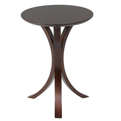 不二貿易 サイドテーブル 直径40×高さ54cm ダークブラウン 77662