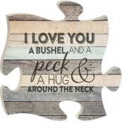 p graham dunn puzzle piece print frame panel art i love you by p