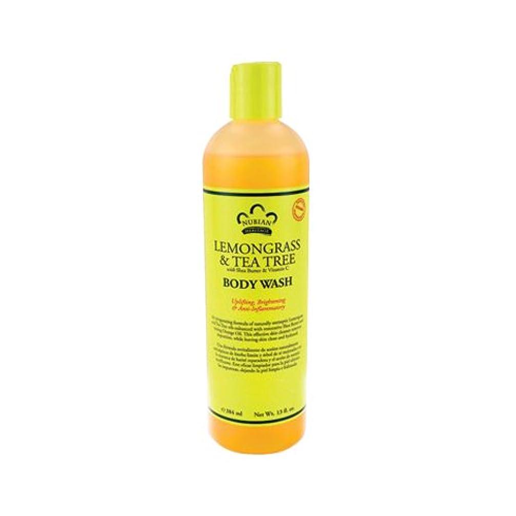 特許へこみギャラリーNUBIAN HERITAGE ヌビアンヘリテージ レモングラス&ティートゥリー ボディウォッシュ 384ml ボディソープ