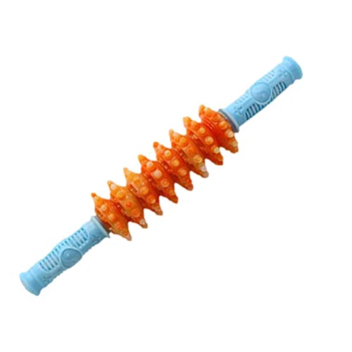 スライムシネマプラスチックHealifty 筋肉痛筋肉痛筋膜痛を和らげるためのヨガの筋肉ローラーマッサージスティック