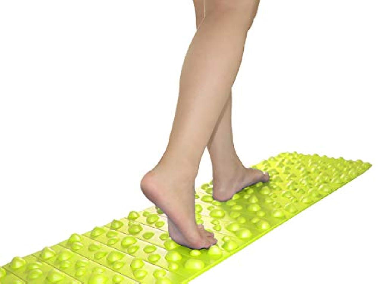 浴室出発する広がりバランスワン 足ツボマット(120cm) (緑)