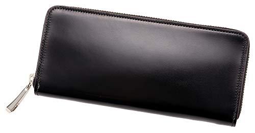 【キプリス】ハニーセル長財布(ラウンドファスナー束入)■オイルシェルコードバン&ヴァケッタレザー 5460 ブラック