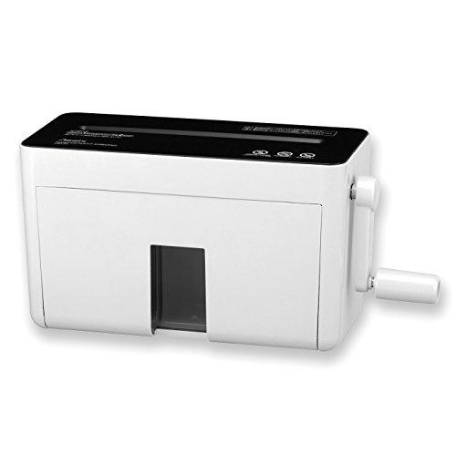 アスカ asmix ハンドマイクロカットシュレッダー HM02W 2×10微小細断 2枚同時細断 ホワイト