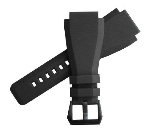 「ベル&ロス(Bell&Ross)向け」輸入王オリジナル BR01,BR03用 ラバーベルト 社外品 ブラック 24mm
