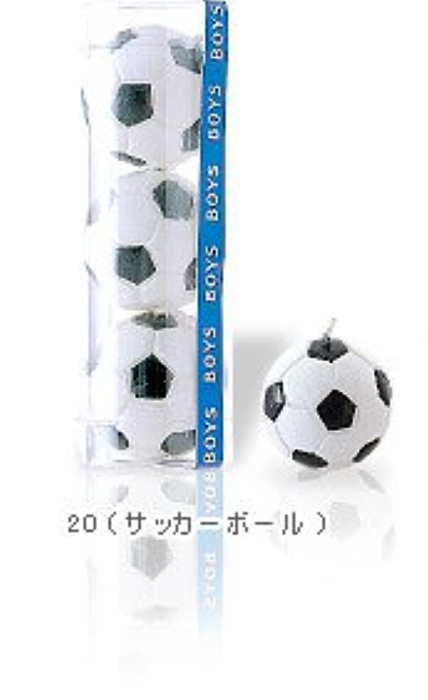 サッカーボールキャンドル3個入T