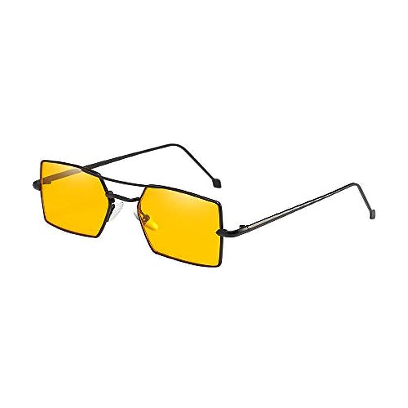 機会破裂繊維Nicircle スクエアメタルフレームシェードサングラス統合UVメガネ 女性男性 Women Men Four Square Metal Frame Shades Sunglasses Integrated UV Glasses