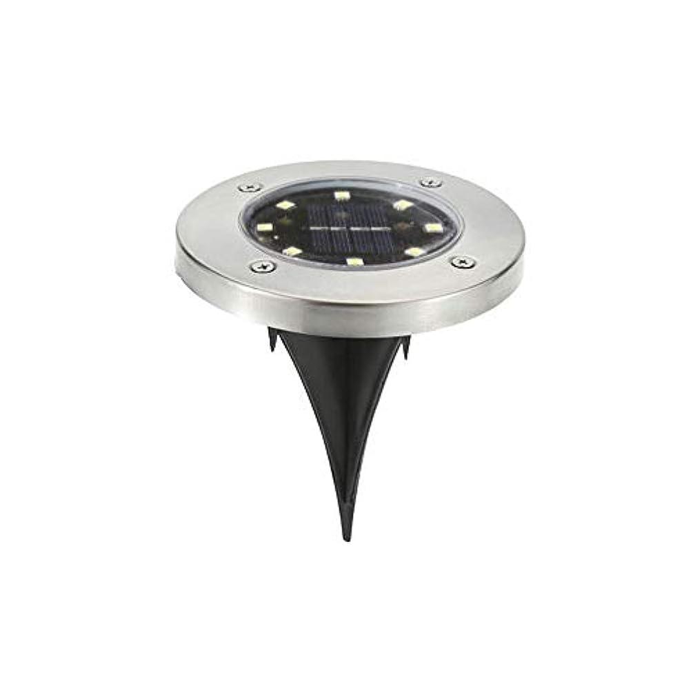 通路アジテーション戦闘太陽地下ライト、2つはパスアースライト、ガーデンナイトライトIP65防水、ON / OFF光センサー自動8LED、ガーデンコートヤードに使用することができ