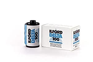Ilford 1780624 Delta 100 Professional Black-and-White Film, ISO 100, 35mm 36-Exposure by Ilford