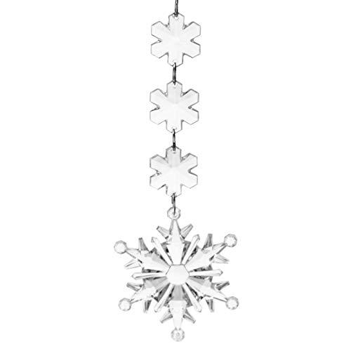 Demiawaking スノーフレーク クリスマス 吊りペン...