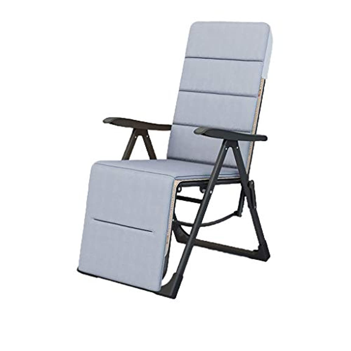 医師重荷大学院リクライニングガーデンサンラウンジャー怠惰な椅子ンゼロ重力りたたみラウンジ家族バルコニー中庭ビーチデッキ (色 : Luxury)