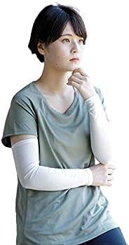 【日本製】 国産天然シルク100% アームカバー レディース アイボリー 1ペア(2枚入り)フリーサイズ 抗菌 美容 紫外線対策 肌荒れ対策 シルク独特の光沢感 天然やわらか繊維 保湿 ハンドケア 冷え性対策 おやすみ