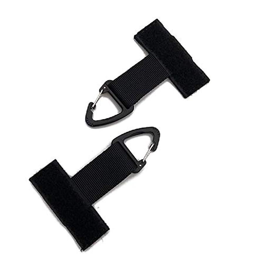 インカ帝国試してみるにじみ出るアウトドア多機能ナイロンT字型バックルバックルポケットキーチェーンハイキングバックパックハンギングリング (Color : Black, Size : 10.5*7cm/4.1*2.8in)