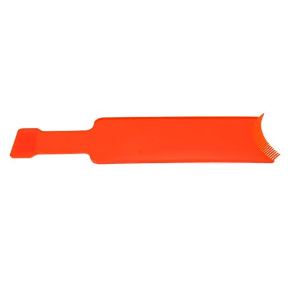 ビルダー気味の悪い非難Toygogo ヘアコーム ヘアブラシ 櫛 染めボード 染色櫛 プレート 着色ボード ヘアサロン 家庭 適用 全2サイズ2色 - オレンジ, L