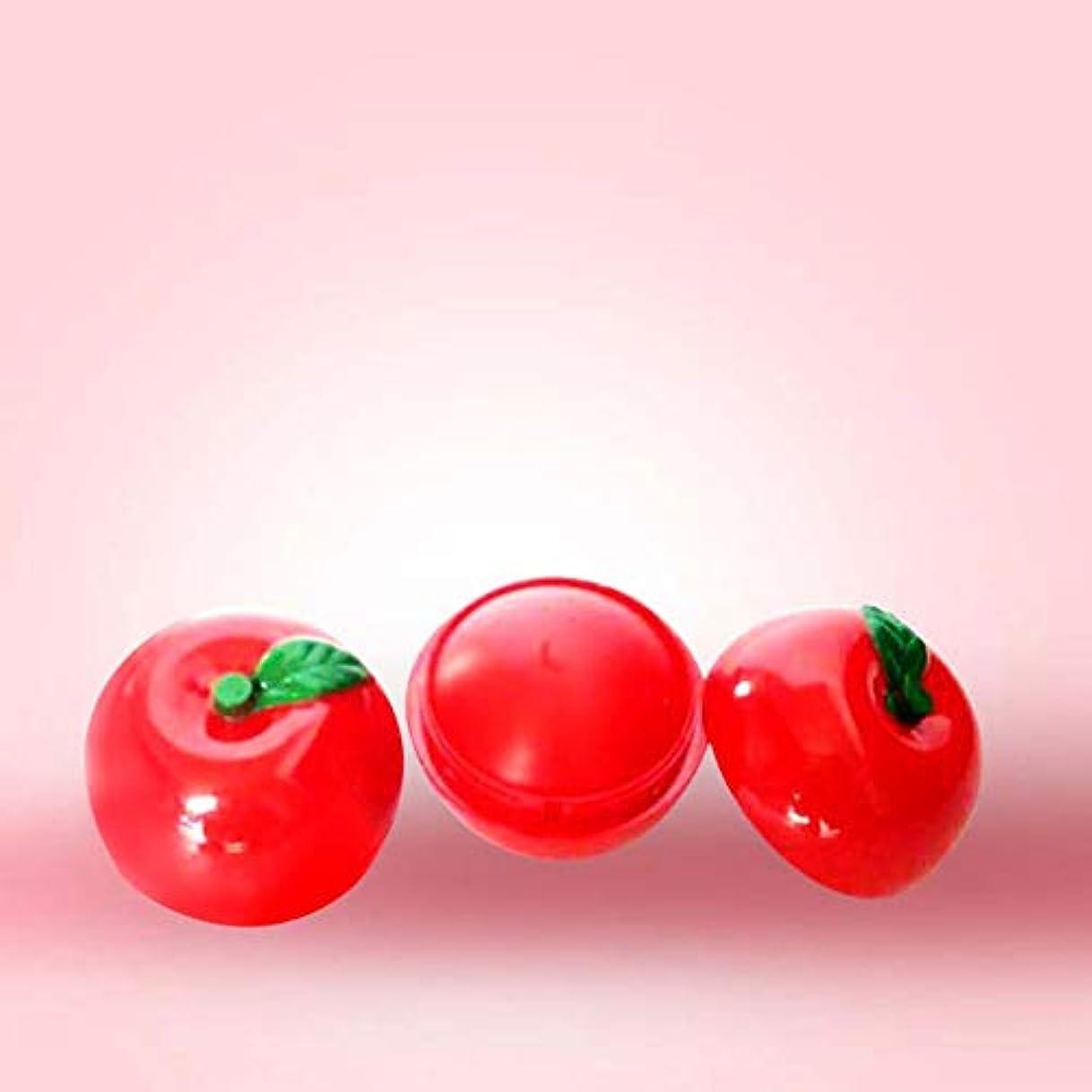 はねかける呪われた仮説KISSION 保湿と持続するリップクリーム ベビーリップスキンケア かわいいリンゴの球形の口紅 栄養と保湿 修理水リップスティック