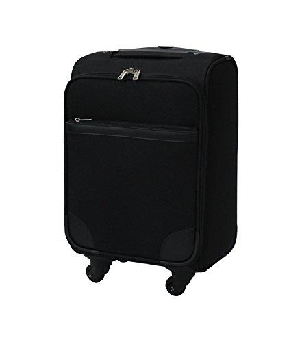 [877]スーツケース ソフトタイプ 布製キャリーバッグ 機内持ち込み ブラック