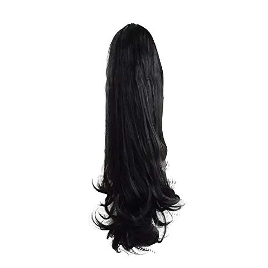 コンプライアンス主権者私たち女性のための合成かつらの周りラップで巻き毛のポニーテールエクステンションクリップ自然に見える耐熱性、黒