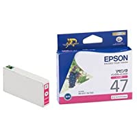 (まとめ) エプソン EPSON インクカートリッジ マゼンタ ICM47 1個 【×4セット】 ds-1570778