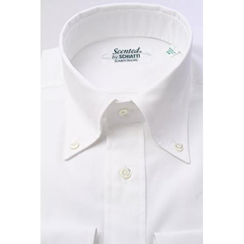(スキャッティ) Scented 白無地 80番手 双糸 ブロード ボタンダウン ドレスシャツ bd2753f-4185