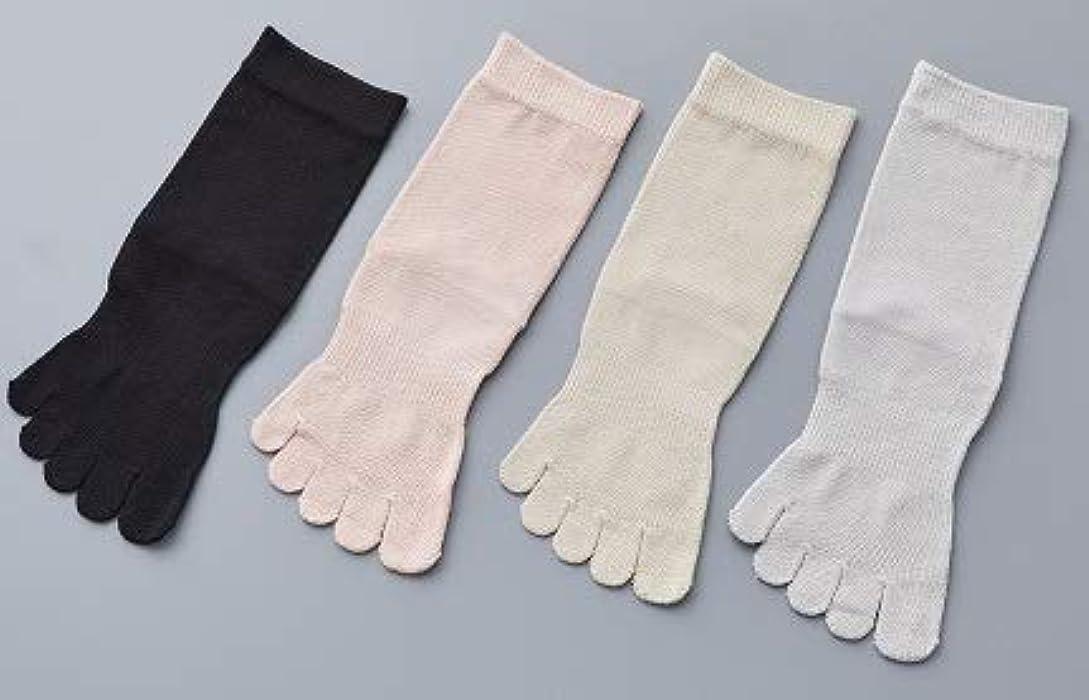 フォアタイプ場所資金婦人 シルク 5本指 靴 下最高級 シルク100% 使用 プレゼントに最適 22-24cm 太陽ニット S90 (ベージュ)