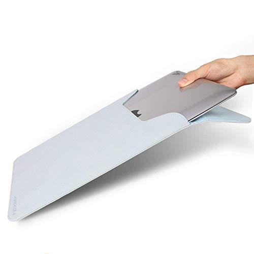 スリーブケース macbook pro/air 13用 大切なご愛機をきちんと守れる マグネット開閉 超薄型・軽量・防水 スウェード素材 (macbook 13.3インチ, ブルー)