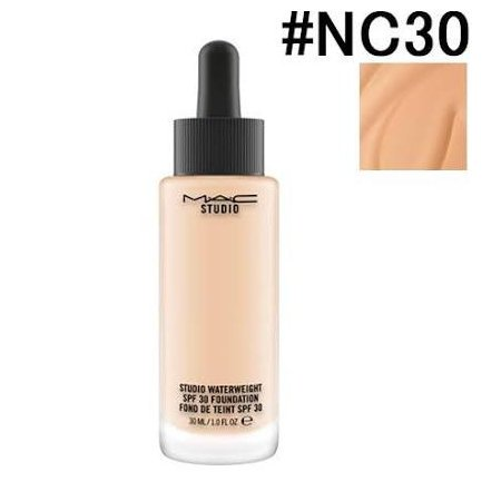 MAC マック スタジオウォーターウェイトSPF30ファンデーション #NC30 30ML [パウダーファンデーション]:(宅急便対応)(保湿) [並行輸入品]