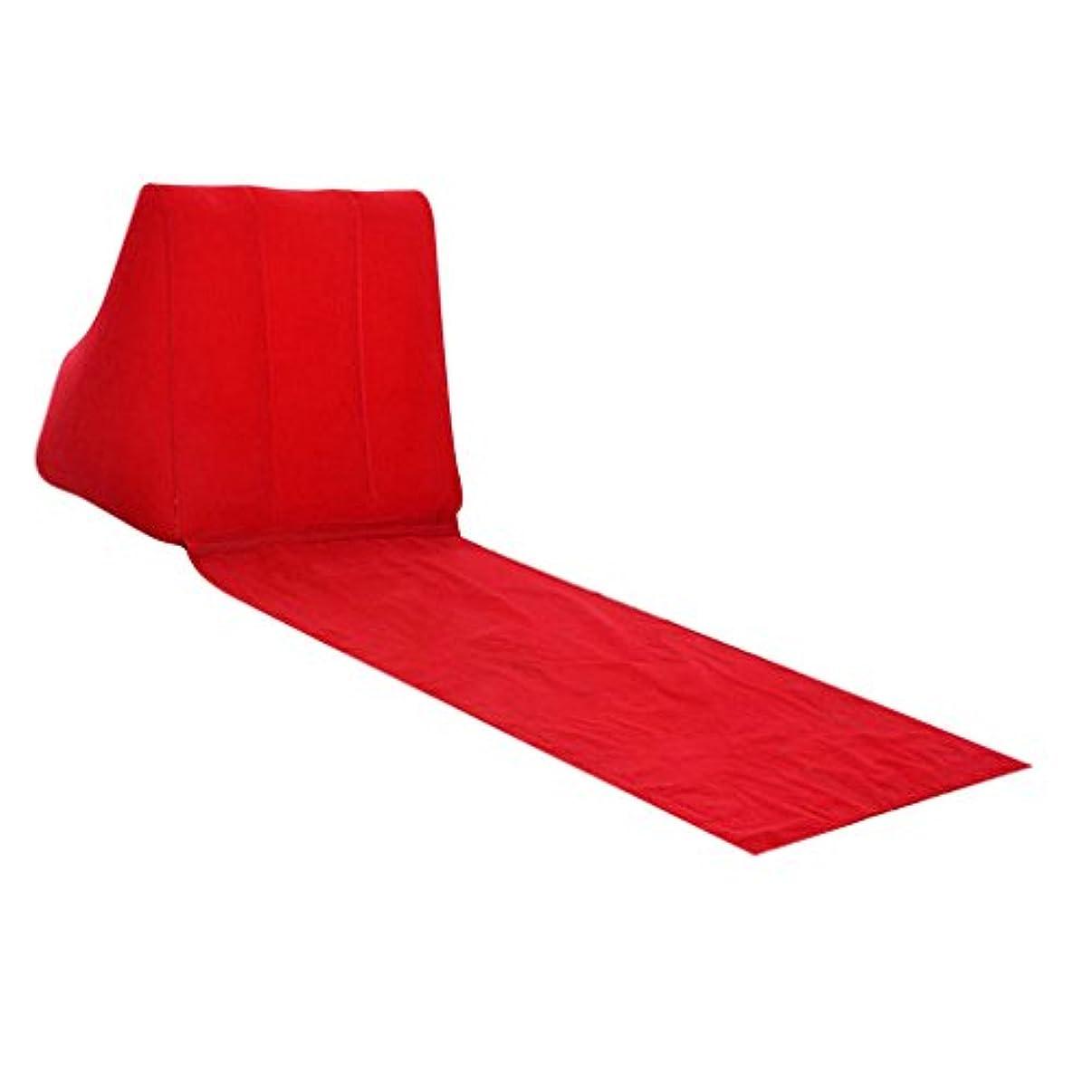 ウィンクかき混ぜる疼痛Fityle インフレータブル ビーチ 日光浴 キャンプ 背中枕 クッション 椅子 エアスリープベッド 5色選べる