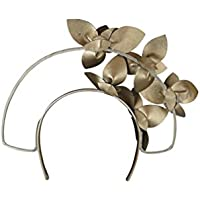 Morgan and Taylor Alicia fascinator with faux leather petals