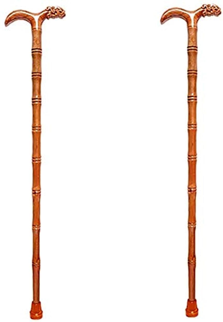風刺旧正月チャンピオンシップ無垢材ステッキ老人ステッキ竹スティックライター滑り止め長さ89 cm(35.03 in)簡単にカット(色:A、サイズ:2)